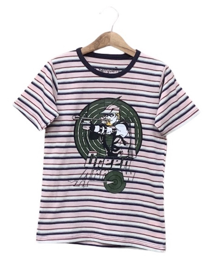 Green Arrow Striped T-shirt