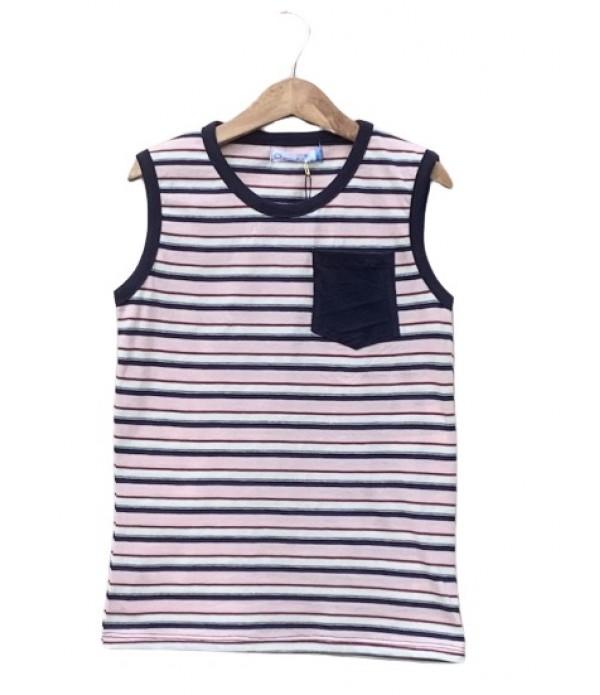 Pocket Striped sleeveless