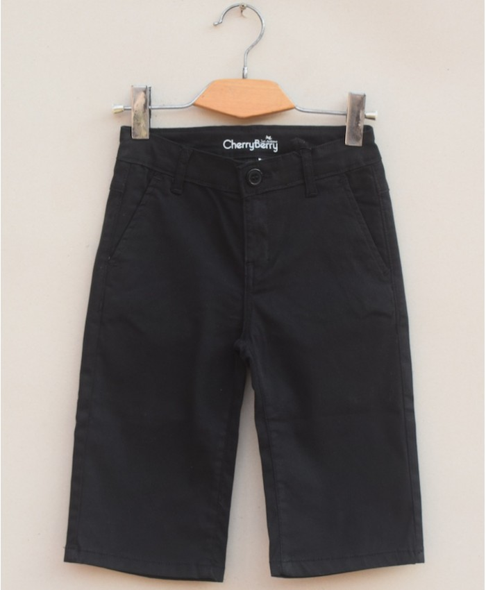 Black Twill cotton Short