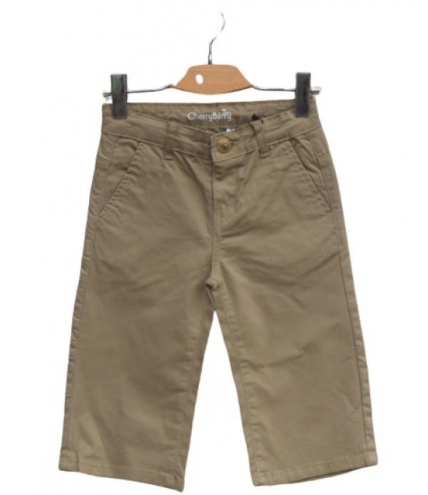 Khaki cotton long short