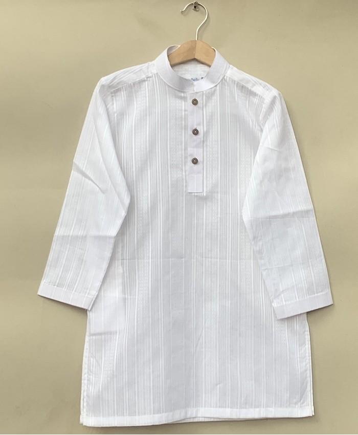 Boys white cotton Kurta