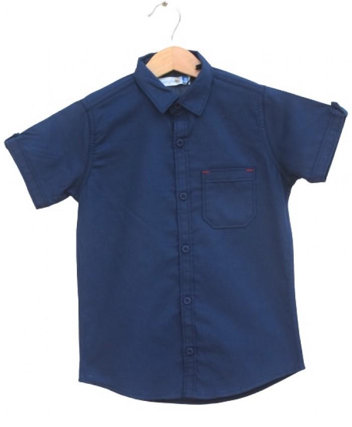 Boys Cotton navy Shirt