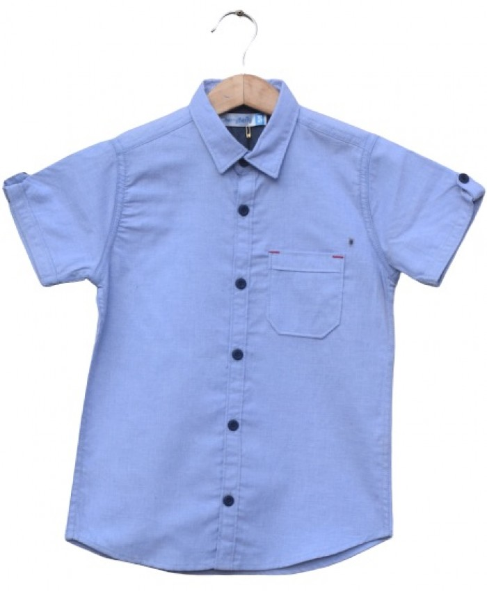 Boys Cotton Blue Shirt