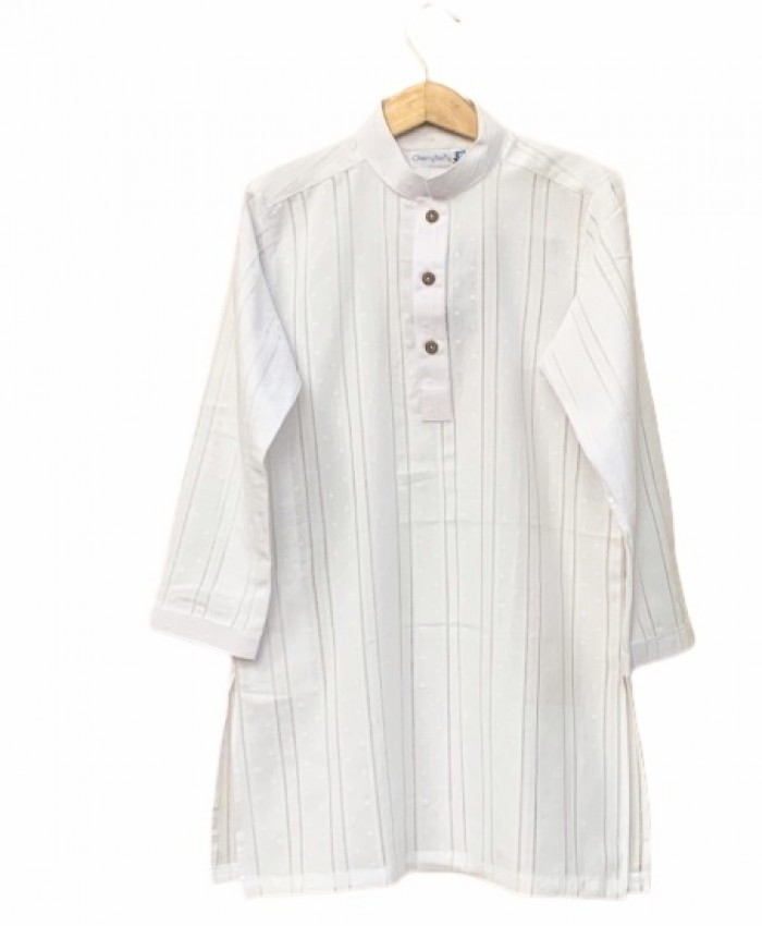 Boys white cotton Kurta