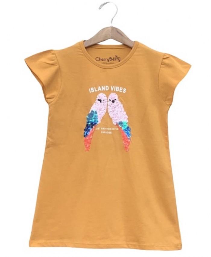 Girl sequin T-shirt