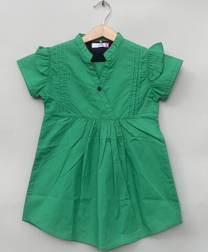 Girls cotton green Blouse