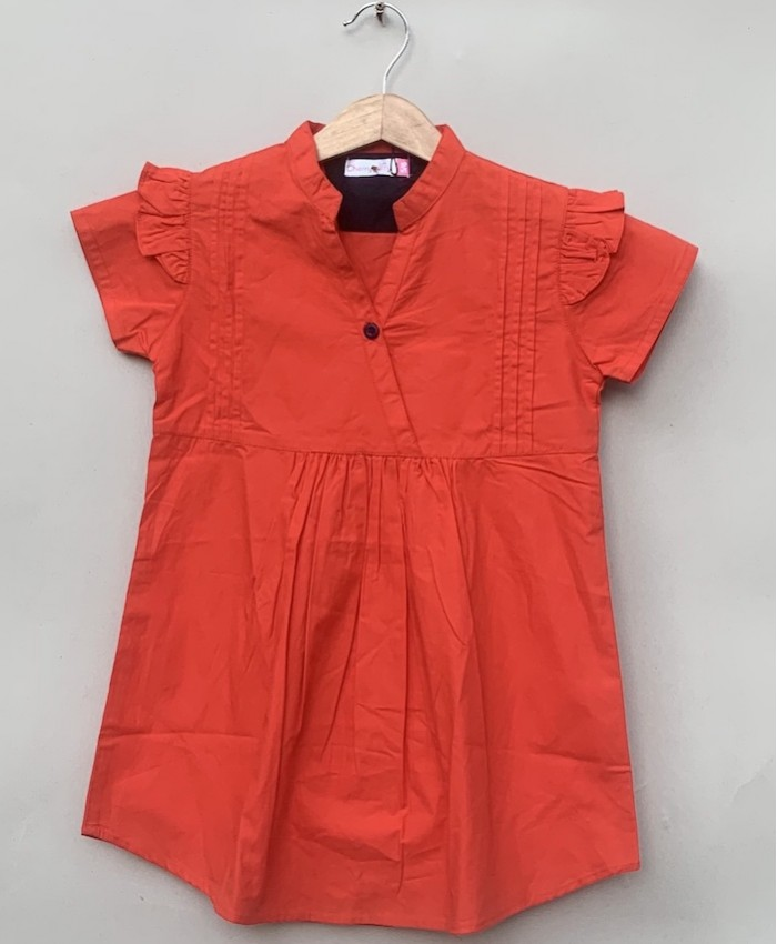 Girls cotton Red Blouse