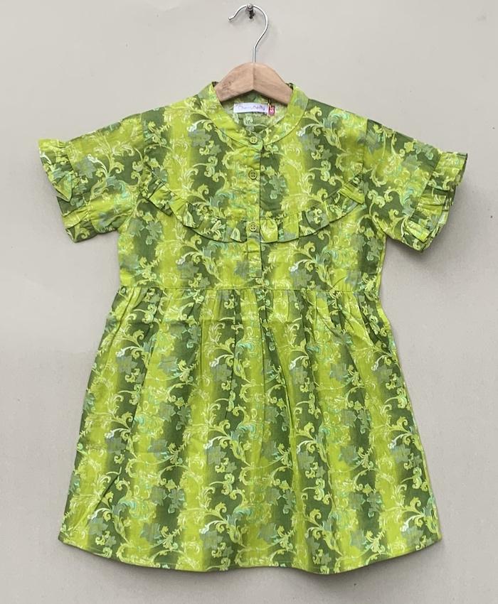 Frill sleeves print Shirt