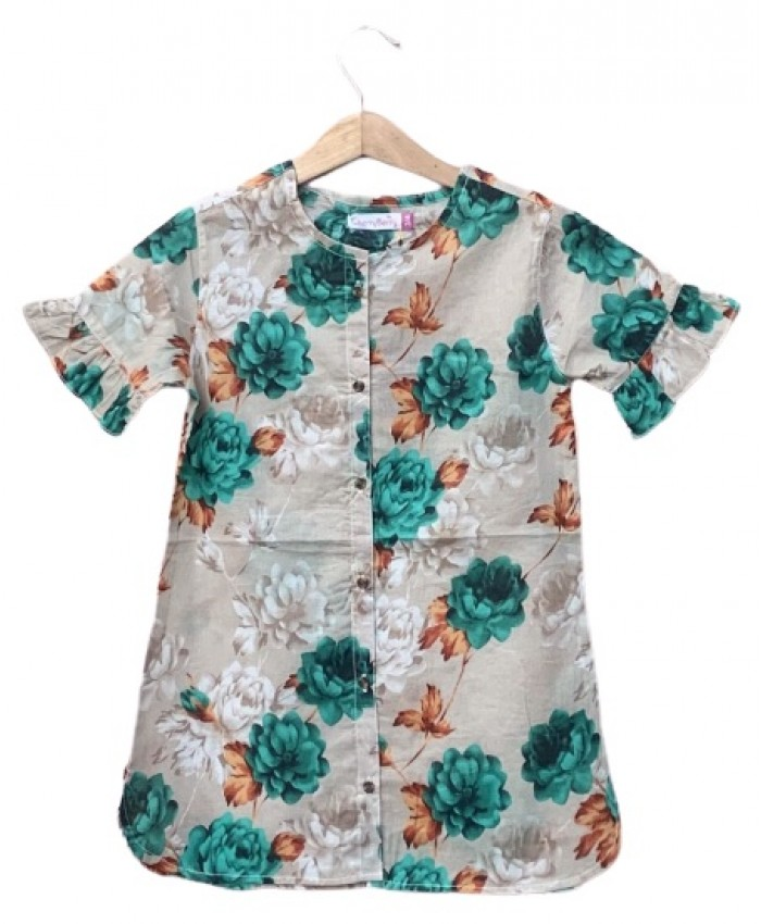 Girls printed Lawn dress