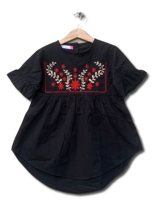 Girl embroider dress