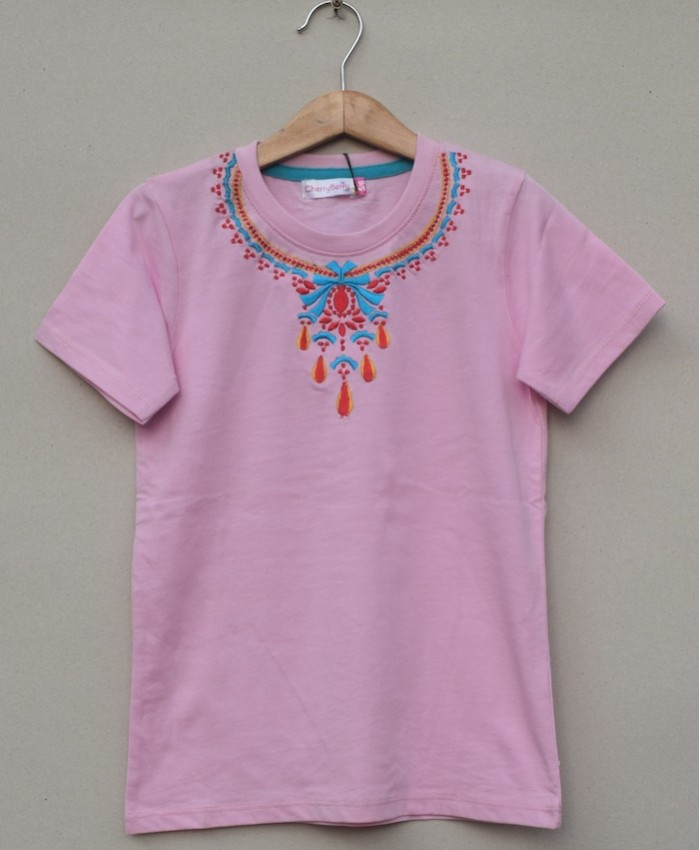 GIRLS PRINTED T SHIRT (S20G18)
