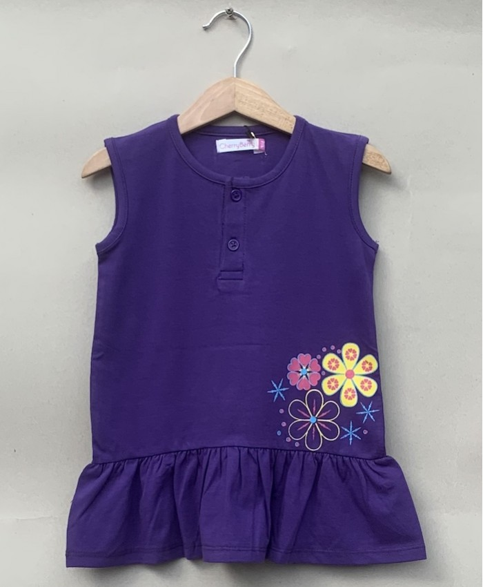 girl purple print t-shirt