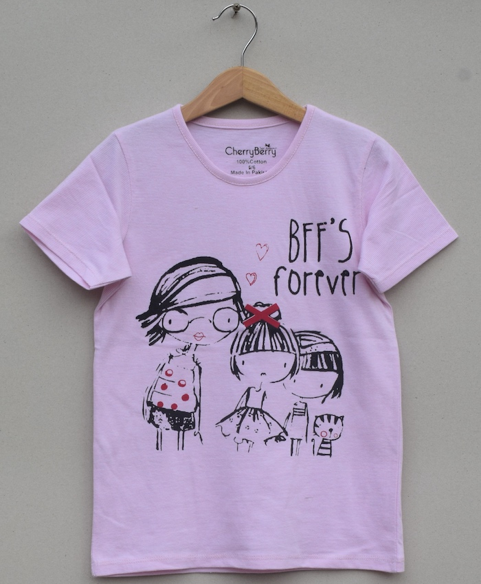 GIRLS PRINTED T SHIRT (S20G24)