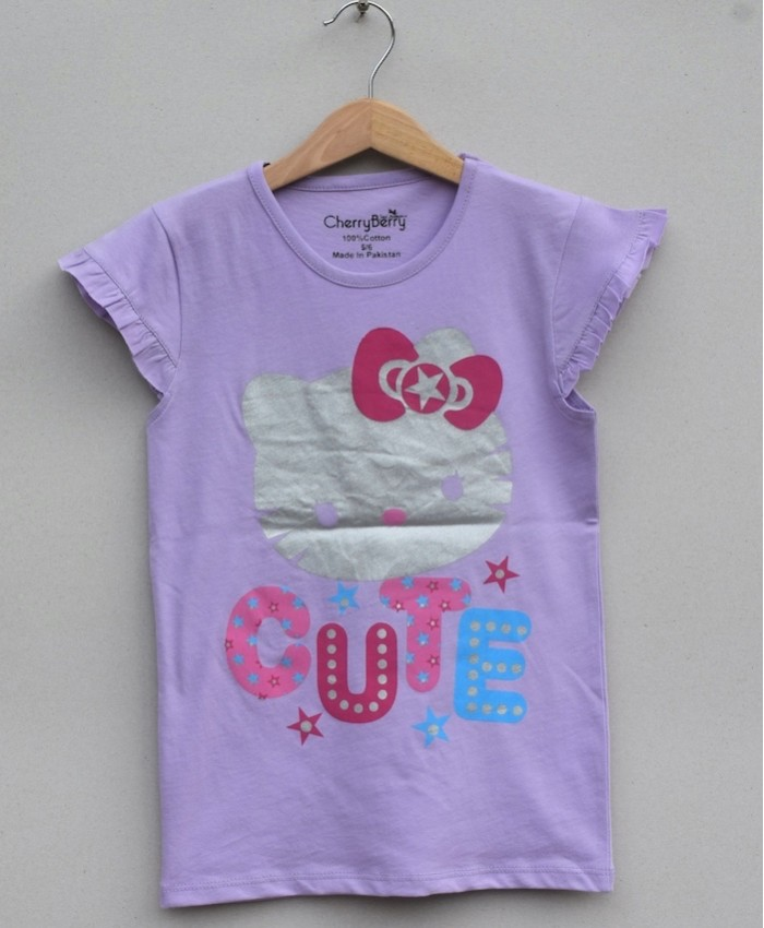 GIRLS PRINTED T SHIRT (S20G26)