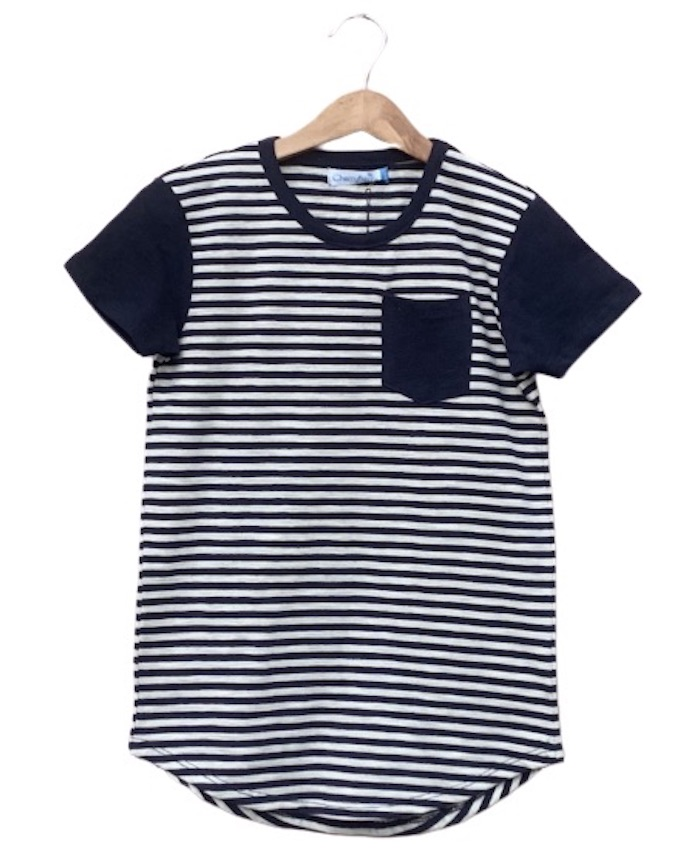 Pocket striped fashion T-shirt