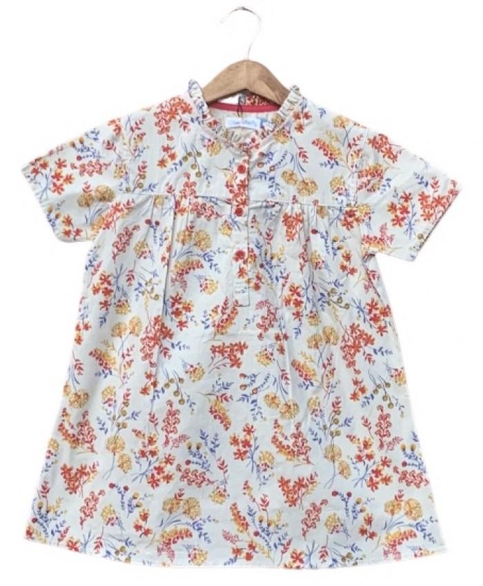 girls cotton printed top