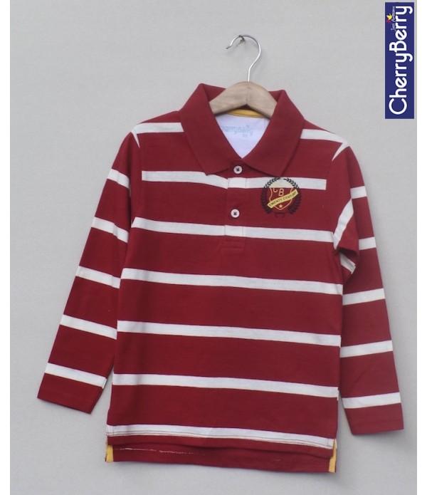 Kids Printed polo-shirt (W18B04)