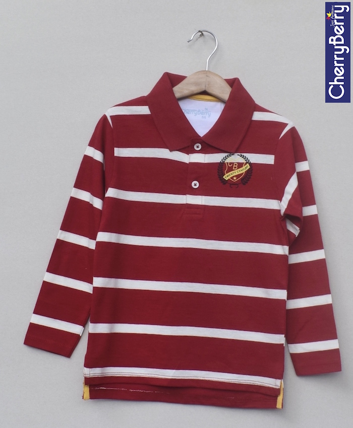 Kids Printed polo-shirt (W18B04)