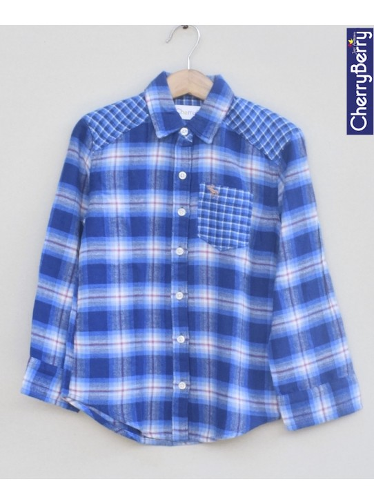 Boys Cotton Flannel Shirt (W18S09)