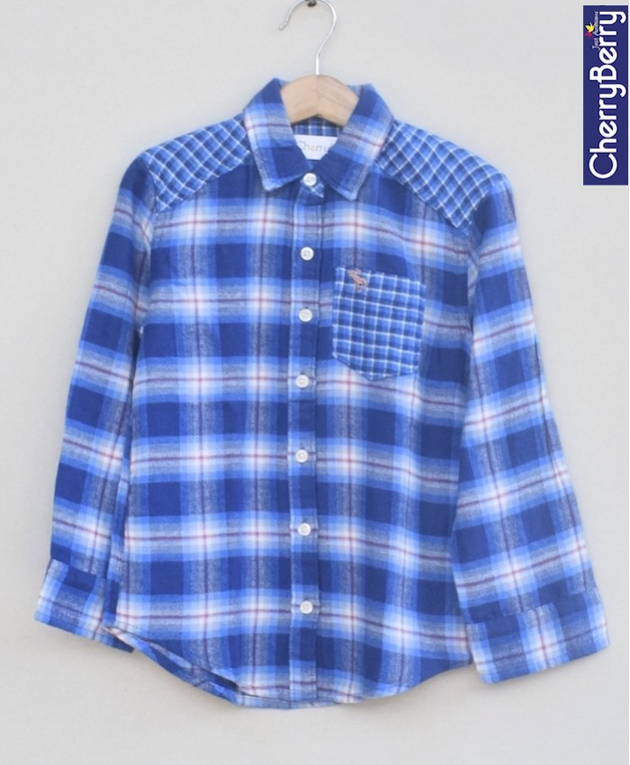 Boys Cotton Flannel Shirt (W18S09)