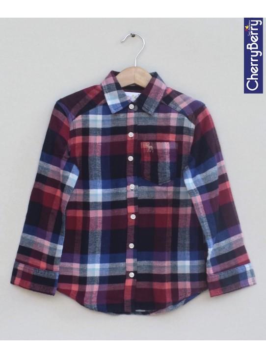 Boys Cotton Flannel Shirt (W18S10)