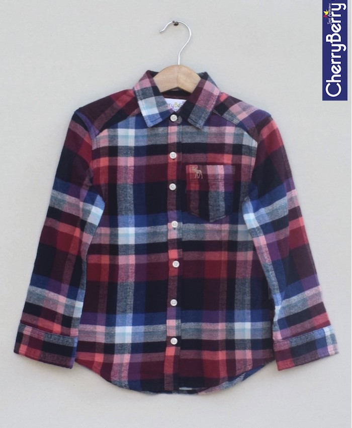 Boys Cotton Flannel Shirt (W18S10)