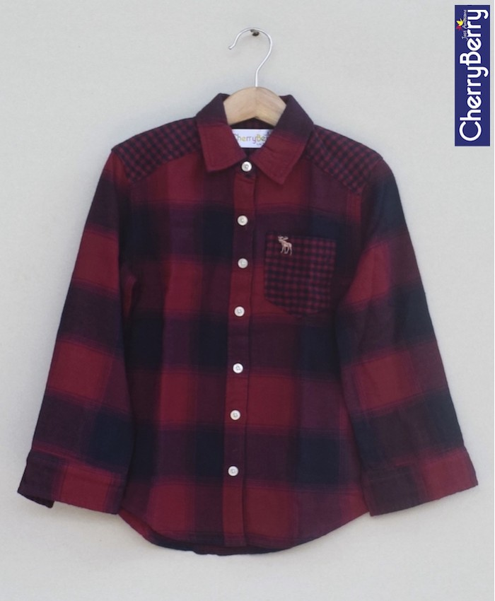 Boys Cotton Flannel Shirt (W18S11)
