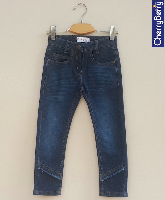 Girls Denim embroider Jean