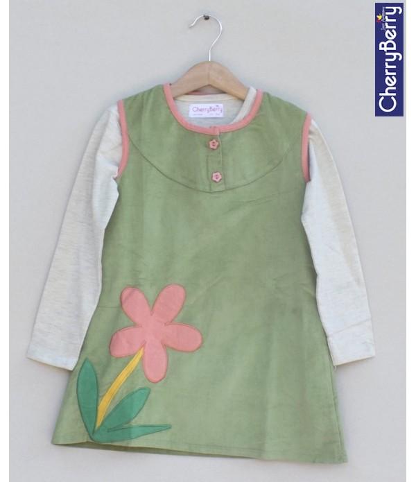 Girls Courdroy-tshirt set (W18F01)