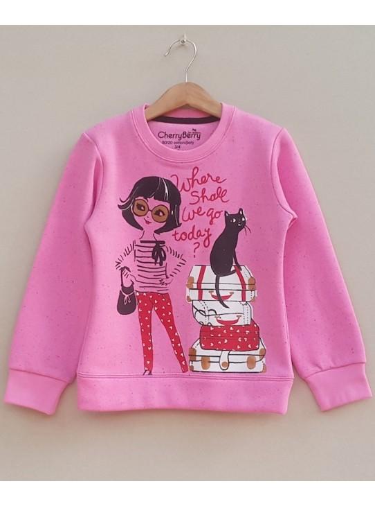 Girls Printed sweatshirt (W18G30)