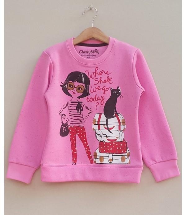 Girls Printed sweatshirt (W19G30)