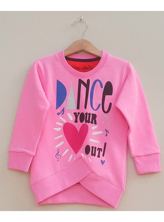Girls Printed sweatshirt (W18G32)