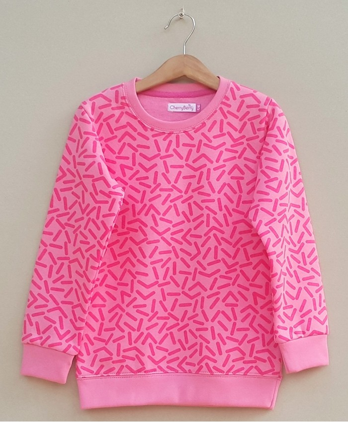 Baby Girls Printed sweatshirt (W18G33)
