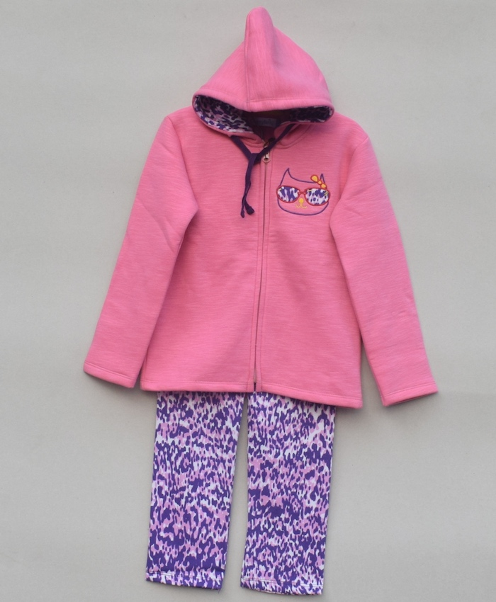 Baby Girls Printed Sweatsuit (W18G64)