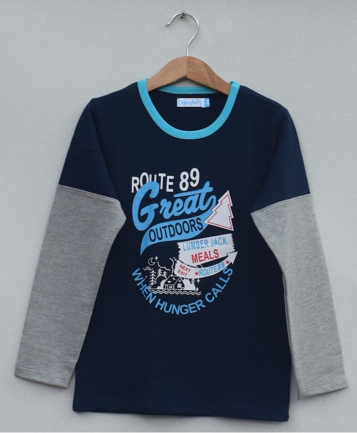 Kids Printed t-shirt (W19B06)