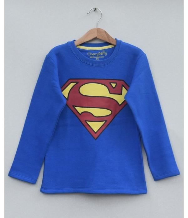 fleece superman t-shirt