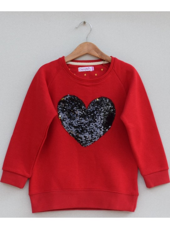 Girls sequin sweatshirt (W19G05)
