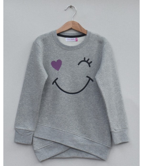 Girls  Printed sweatshirt (W19G25)