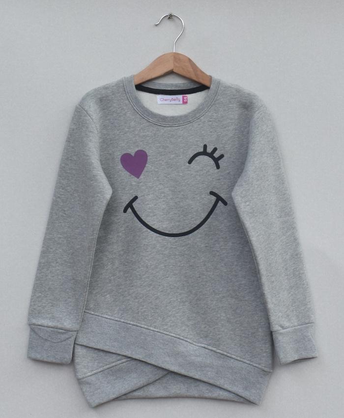 Girls  Printed sweatshirt (W19G25)