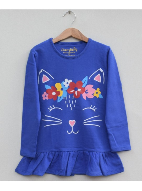 Girls  Printed knit frock (W19G29)