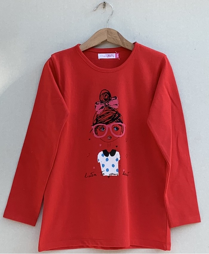 Girls Printed T-shirt (W19G42)