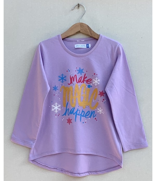 Girls Printed T-shirt (W19G48)