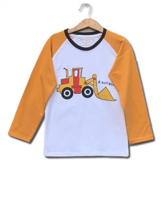 Bulldozer print t-shirt