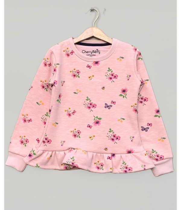 Fleece flower top