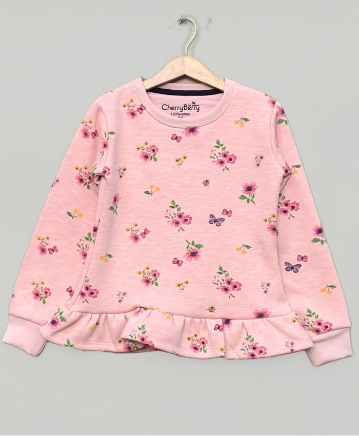Fleece flower top