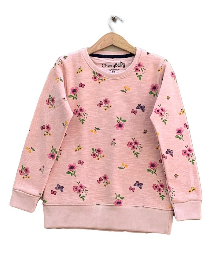 Flower printed sweatshirt