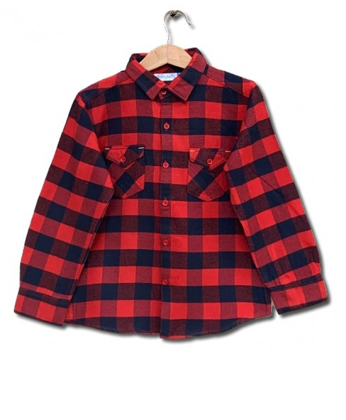 Red Check Cotton Shirt
