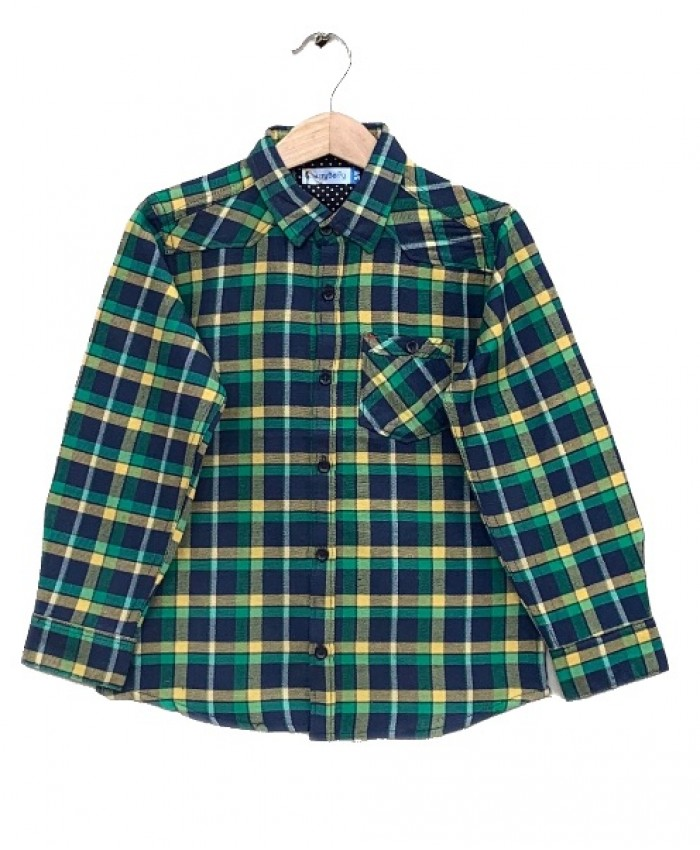 Green Check Cotton Shirt