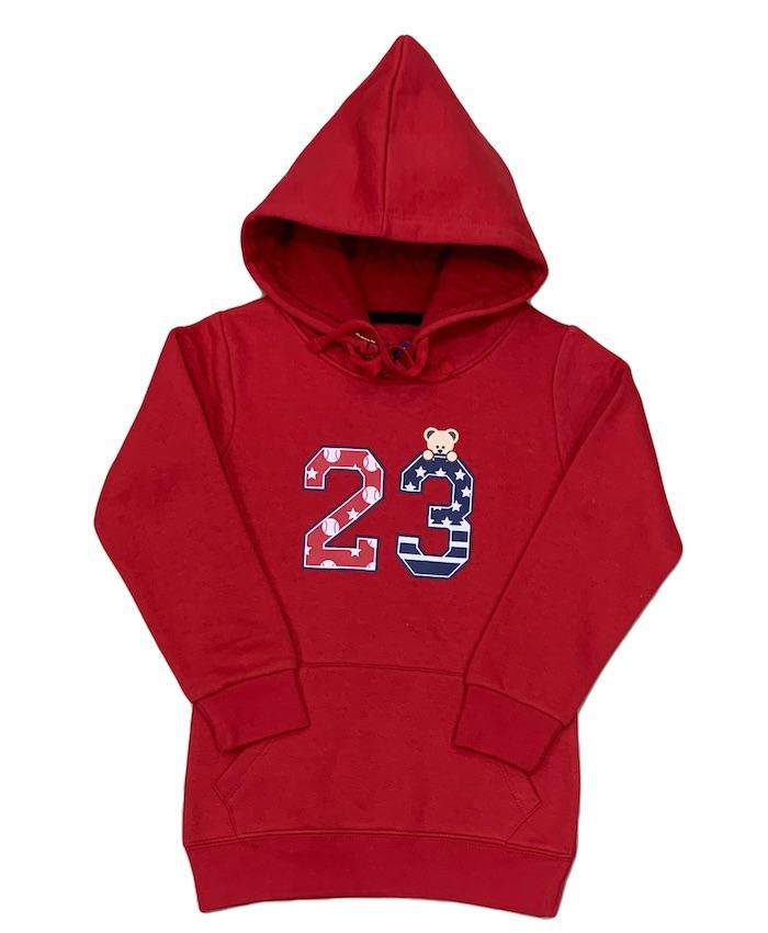 kids 23 print hoodie