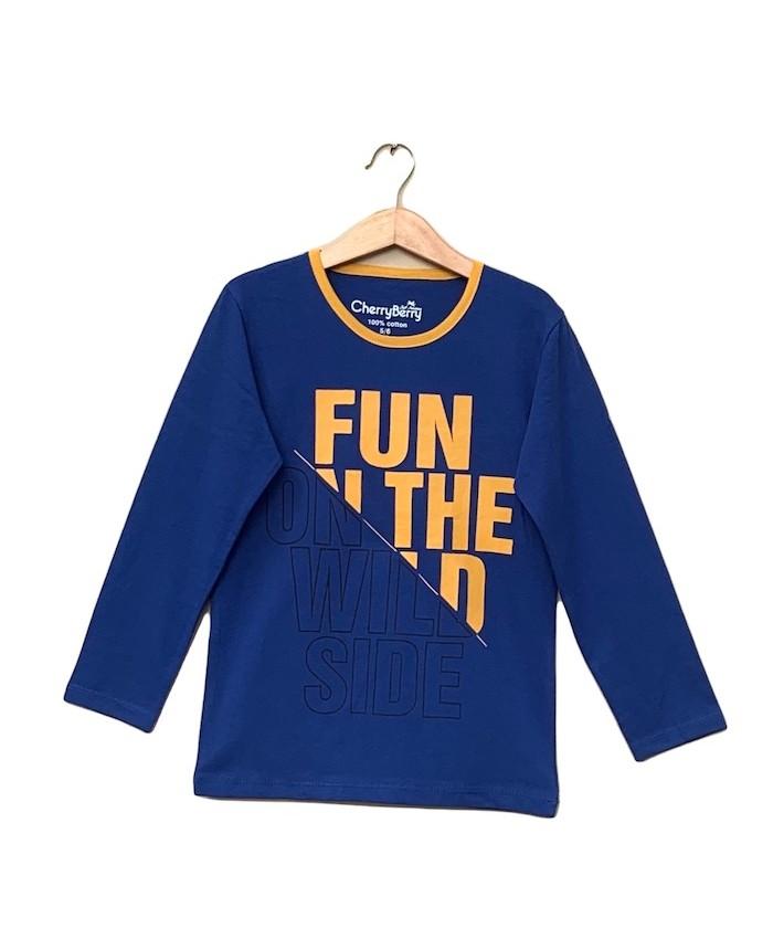 Blue winter T-shirt